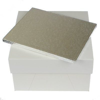 """12 x 10 """" rectangle cake board drum and 12 inch square cake box FAST DESPATCH"""