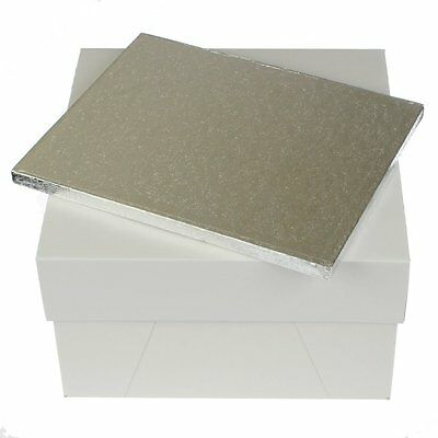 "12 x 10 "" rectangle cake board drum and 12 inch square cake box FAST DESPATCH"