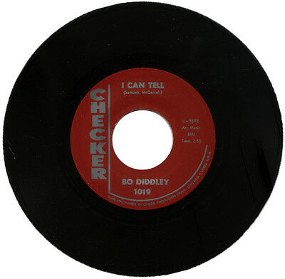 "BO DIDDLEY  ""I CAN TELL c/w YOU CAN'T JUDGE A BOOK BY THE COVER""  R&B   LISTEN!"
