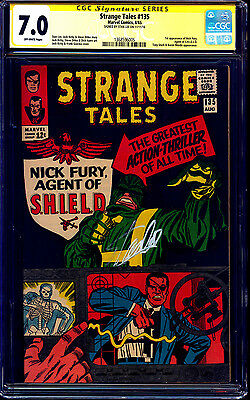 Strange Tales #135 CGC SS 7.0 signed Stan Lee 1st Nick Fury Agent of SHIELD 1965