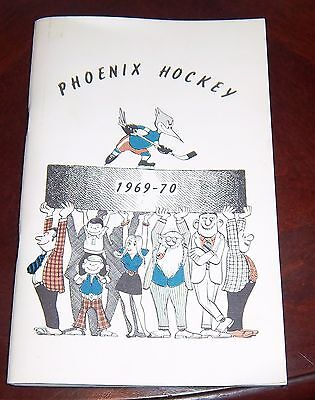 Phoenix Roadrunners  WHA year book player profile 1969   grab a piece of history
