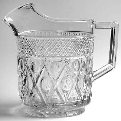Imperial Glass Ohio CAPE COD CLEAR (#1602 & #160) Ice Lipped Pitcher 1829673
