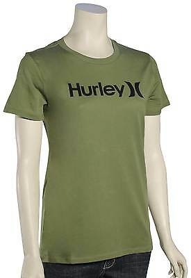 Hurley One and Only Perfect Crew Women's T-Shirt - Palm Green - New