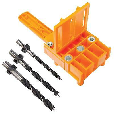 Silverline Dowelling Jig with Carpenters Dowel Drill Set For 6, 8 & 10mm Dowels