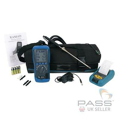 NEW Kane 455 Boiler Analyser Kit with Infrared Printer, Carry Case + Accessories