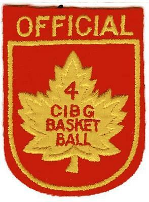 Canadian 4th CIBG Basketball Officials Patch 1