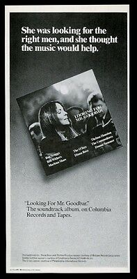 1978 Diane Keaton photo Looking for Mr Goodbar movie soundtrack release print ad