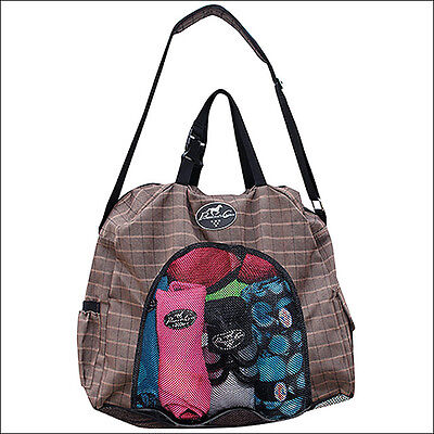 Professionals Choice Sports Adjustable Horse Boot Carry All Bag Chocolate Plaid