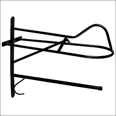 Hilason Western English Tubular Metal Horse Saddle Rack And Blanket Bar Black