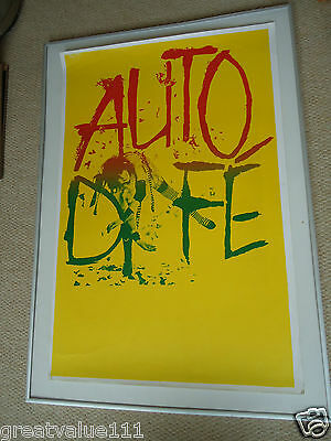 Auto Da Fe [Phil Lynott]Invaluable Concert Gig Poster 1982 Unique Poster V Rare
