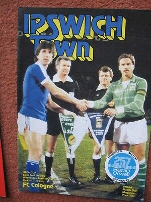 1981 UEFA CUP SEMI FINAL: IPSWICH v FC COLOGNE