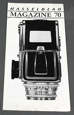 """Genuine 1967 HASSELBLAD """"MAGAZINE 70"""" FOLD-OUT PRODUCT SALES BROCHURE"""