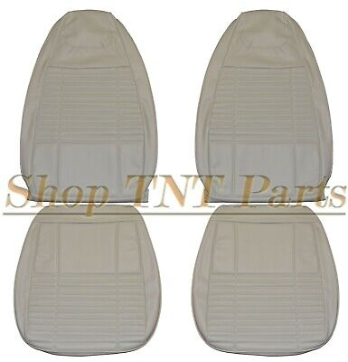 1970 Dodge Challenger Seat Covers Front Bucket Style Upholstery White Coachman