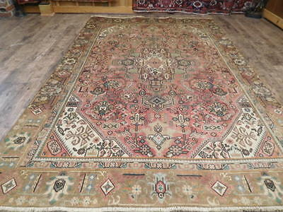 Ca1930 VG DY ANTIQUE PERSIAN HAJJALILI VISS SERAPI HERIZ 6x9 ESTATE SALE RUG