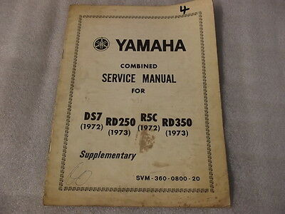 Yamaha Rd250 1973 Ds7 1972  R5C  1972 Rd350 1973 Combined Service Manual 4