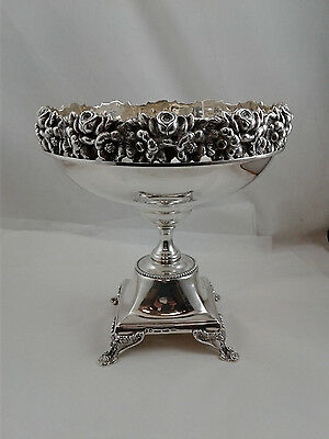 Sterling Silver 925 Large Fruit Bowl Dish 1380 gram Topazio Made in Portugal