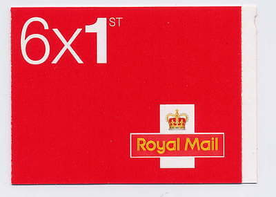 GB 2015 6 x 1st CLASS SELF ADHESIVE STAMPS BOOKLET MB12 M15L