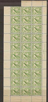 New Guinea 1932 1d green SG 177 in a complete sheet of 30 Mint/MNH cat £180