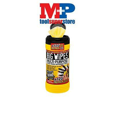Big Wipes 2412 4x4 Multi-Purpose Cleaning Wipes Tub of 120