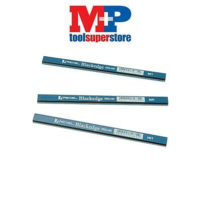 Blackedge B Carpenters Pencils - Blue / Soft Card of 12
