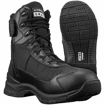 "Original S.w.a.t. Womens H.a.w.k. 9"" Side-Zip Tactical Boots Sz 7.5 Black New"
