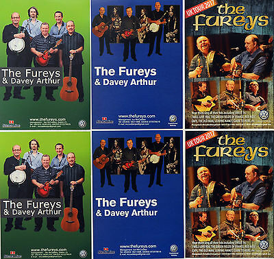 6 X The Fureys Tour Flyers 2017 Tour 2013 2011 - Davey Arthur - Irish Folk Music