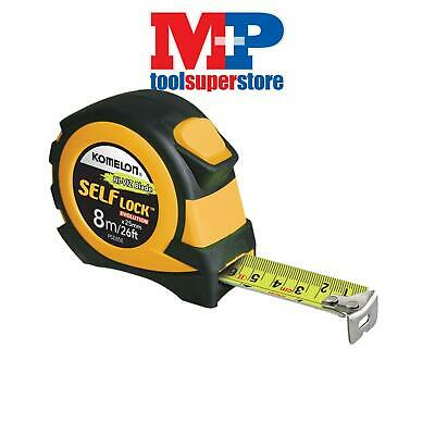 Komelon PSE826E Self Lock Evolution Pocket Tape 8m/26ft (Width 25mm)