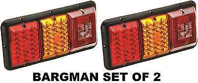 Bargman Set Of 2 (Two) Trailer Red & Amber Led Taillight - Incandescent Backup