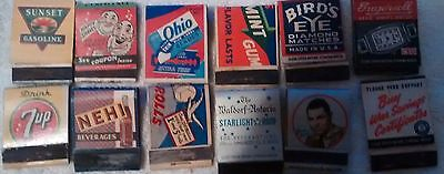 23 Match book covers gas pop tabacco gum 7 up ect