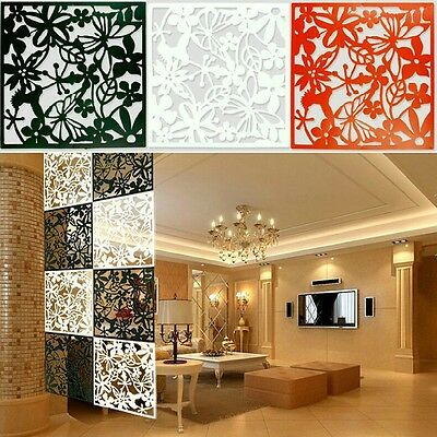 10Pcs Butterfly Flower Hanging Screen Partition Divider Panel Home Room Wall