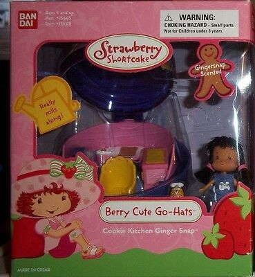 Strawberry Shortcake Berry Cute Go-Hats Ginger Snap Really Rolls Along Nip!!!!