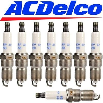 Qty 8 Ac Delco Boat Marine Specialty Spark Plugs Double Iridium 41-993