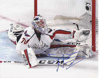 Braden Holtby Signed Autographed Washington Capitals 8X10 Photo  Proof #3
