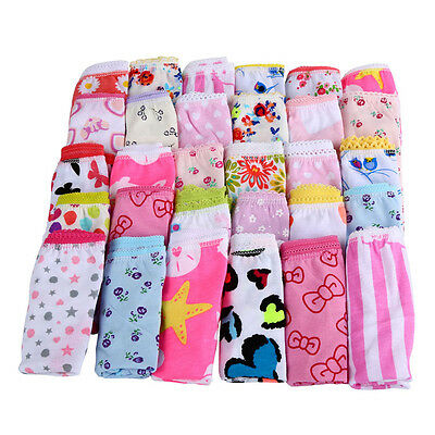 6Pcs/Set Infant Child Baby Girl Kids Shorts Pants Cotton Underwear Briefs New US