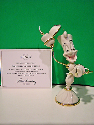 LENOX Welcome LUMIERE Style NEW in BOX with COA Candlestick Beauty and the Beast