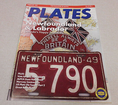 February 2007 ALPCA PLATES magazine Newfoundland & Labrador Norway Great Race