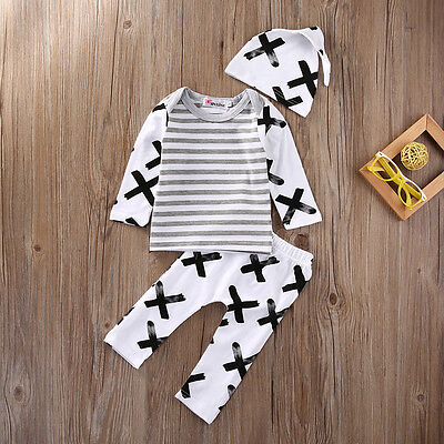 Toddler Newborn Infant Baby Boy Girl Clothes T-Shirt Top+Leggings Clothes Outfit