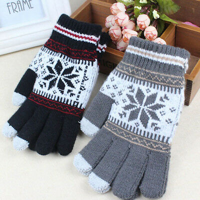 US Stock Warm Winter Gloves Knitted Touch Gloves Women Gloves Touch Screen Glove