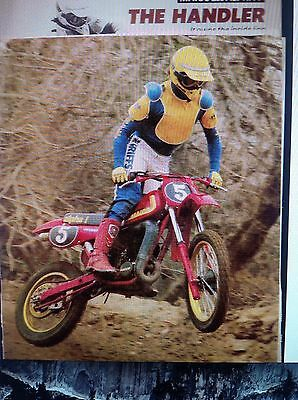 5 Pages 1982 Motorcycle Motocross Race  Test 8 Pictures & 2 Page Ad
