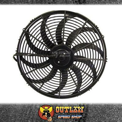 """Aeroflow Electric Thermo Cooling Fan 16"""" Diam Curved Blade 2000 Cfm - Af49-1003"""