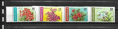 pk25142:Stamps - Anguilla #70-73 Flower Issues - Mint Never Hinged