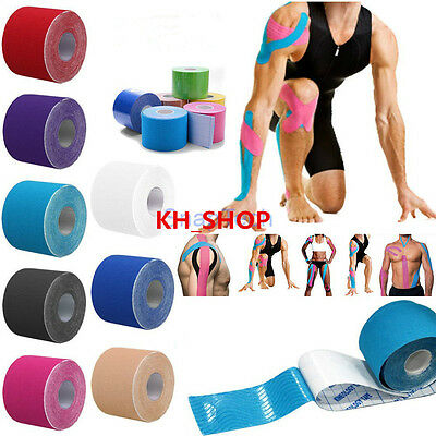 5M Waterproof Physio Elastic Kinesiology Sports Tape Therapeutic Care Convenient