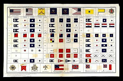 Official Records of Civil War Print Flags Banners Union Divisions Corps Calvary