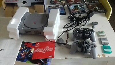 PS1 Playstation 1 Games Console Leads + Pad + Games Bundle PAL
