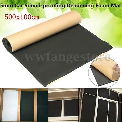 16x3FT 5mm Car Sound-proofing Deadening Insulation Roll Foam Mat Acoustic Panel