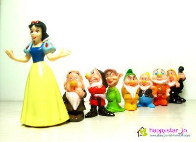8 pcs Princess Snow White and the Seven Dwarfs Figures Figurine Cake Topper Toy