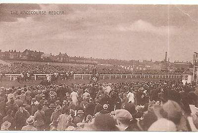 Unposted 1920s Postcard - The Racecourse,West Dyke Road,Redcar By The Sea