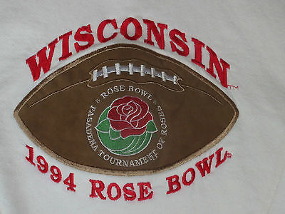 Vintage 1994 Rose Bowl WI Badgers adult sweatshirt  Large Excellent Condition