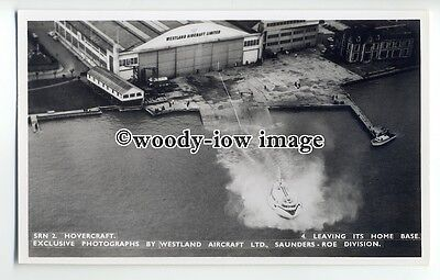 f0783 - SRN 2 Hovercraft at East Cowes , Isle of Wight - postcard by Nighs