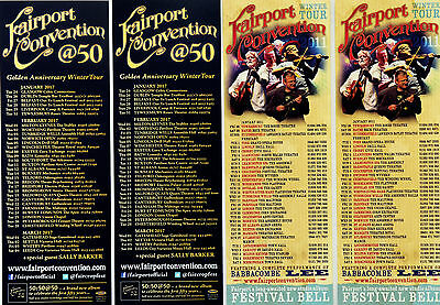 4 X Fairport Convention Flyers - At 50 Golden Anniversary 2017 Tour & 2011 Tour
